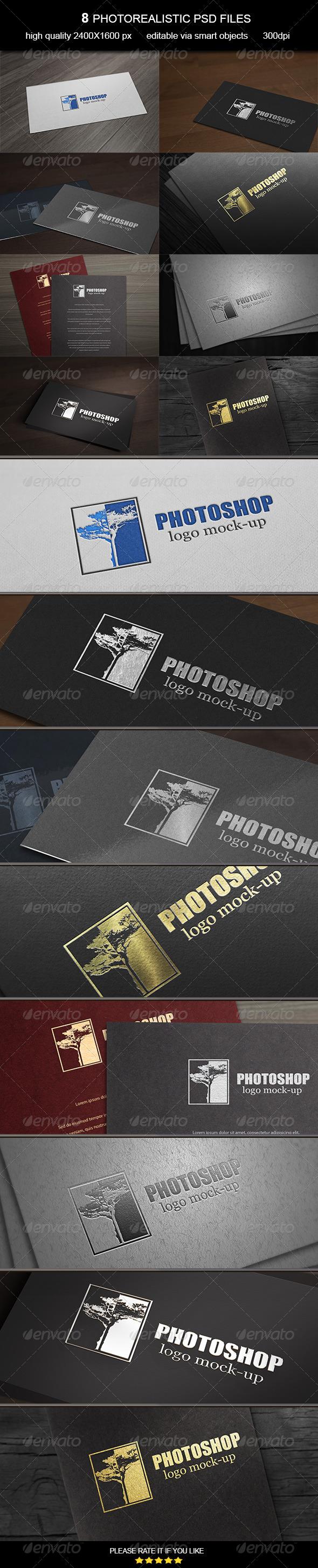 GraphicRiver Card Logo Mock-Up 6959599