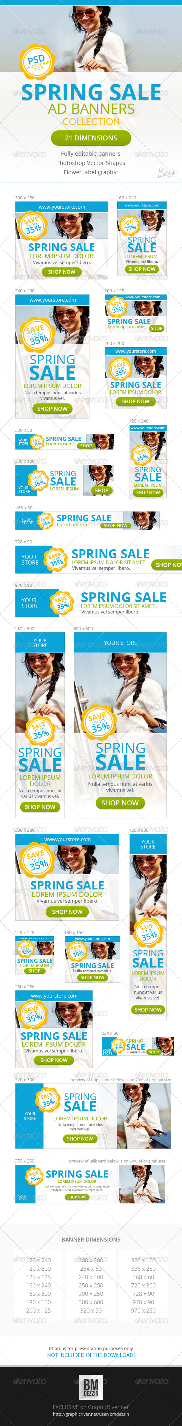 GraphicRiver Spring Sale Promotion Web Ad Banners 6959669