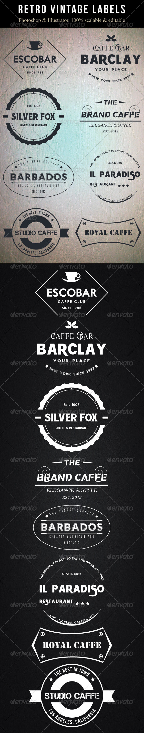 GraphicRiver Retro Vintage Labels 6959732