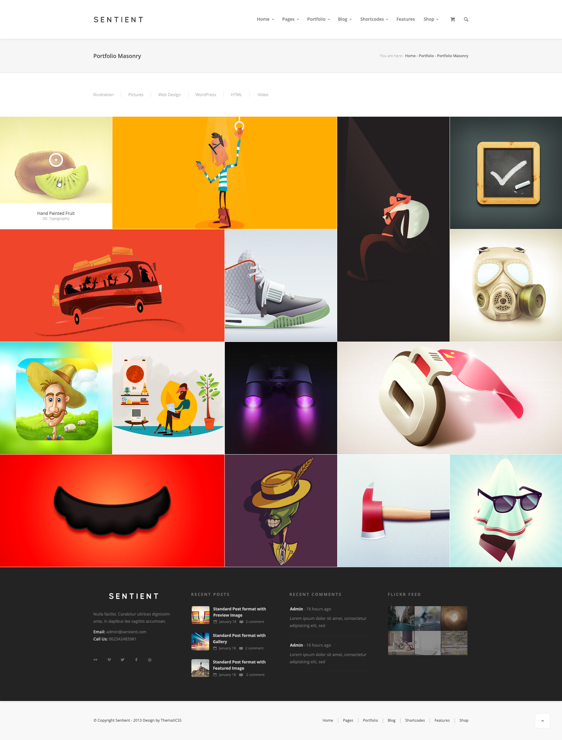 Sentient - Multi Purpose PSD Template