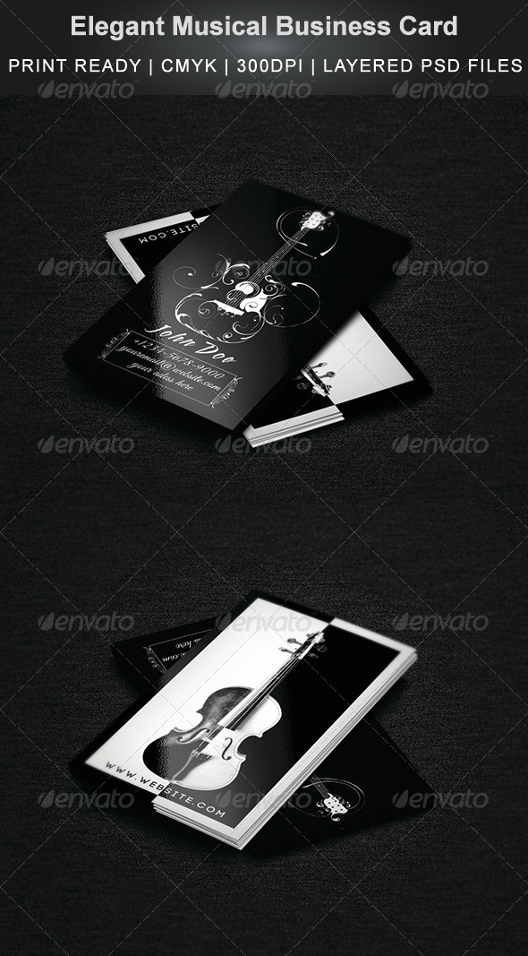 GraphicRiver Elegant Musical Business Card 6959753