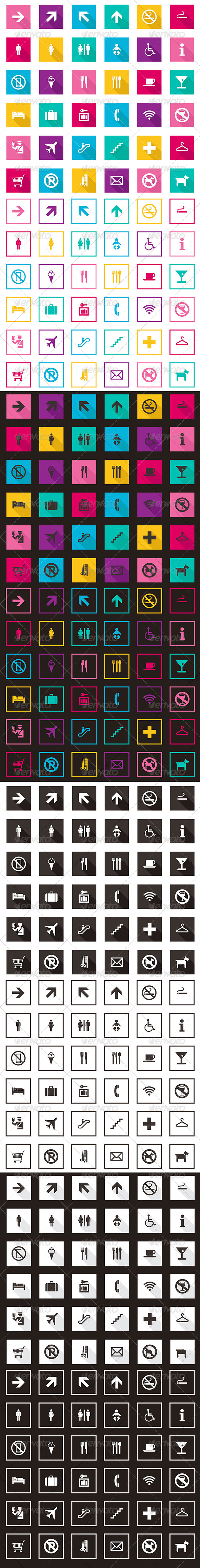 GraphicRiver Travel And Tourism Icons Collection 6959756