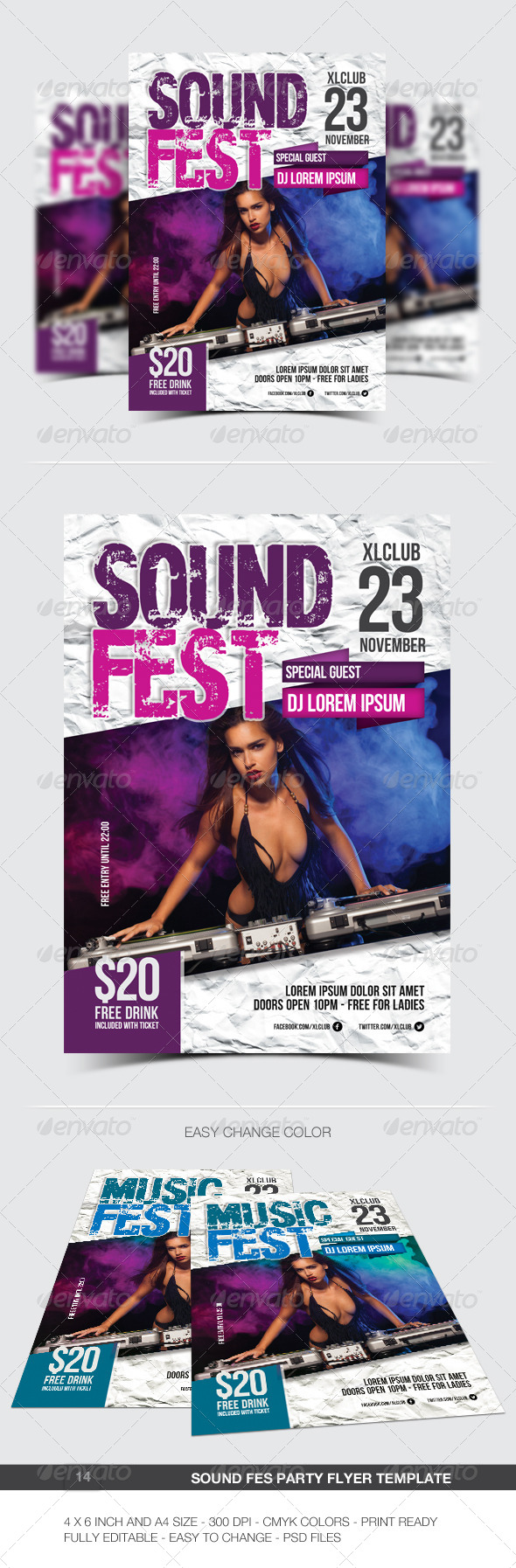 GraphicRiver Sound Fest Party Flyer Poster 14 6959809