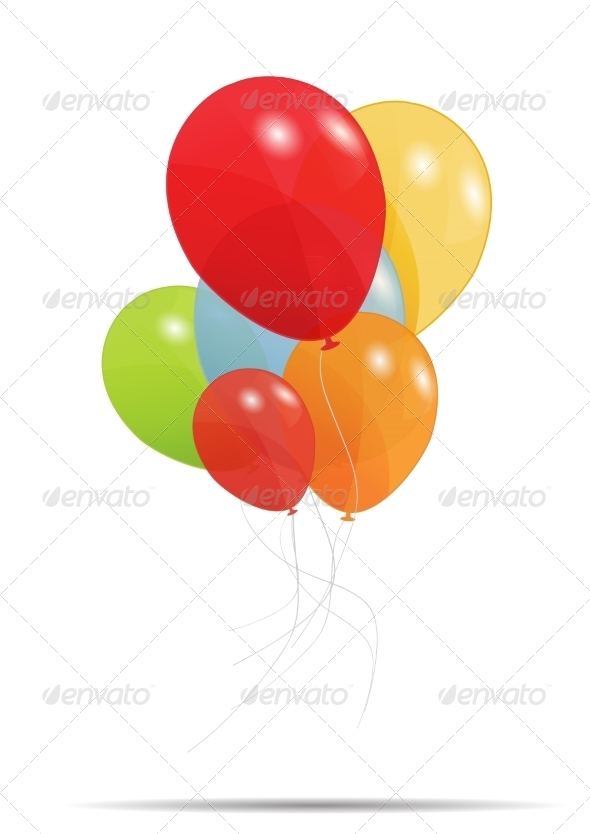 GraphicRiver Gift Card with Balloons 6960020