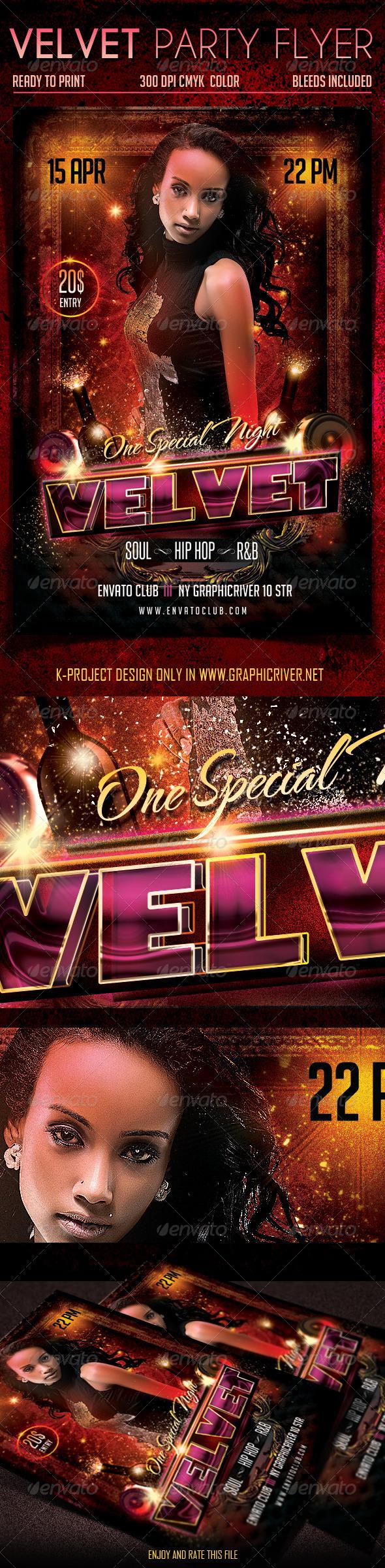 GraphicRiver Velvet Party Flyer 6960087