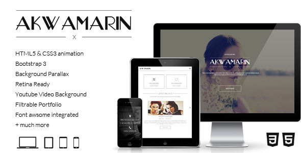 Akwamarin - One Page Parallax HTML Template
