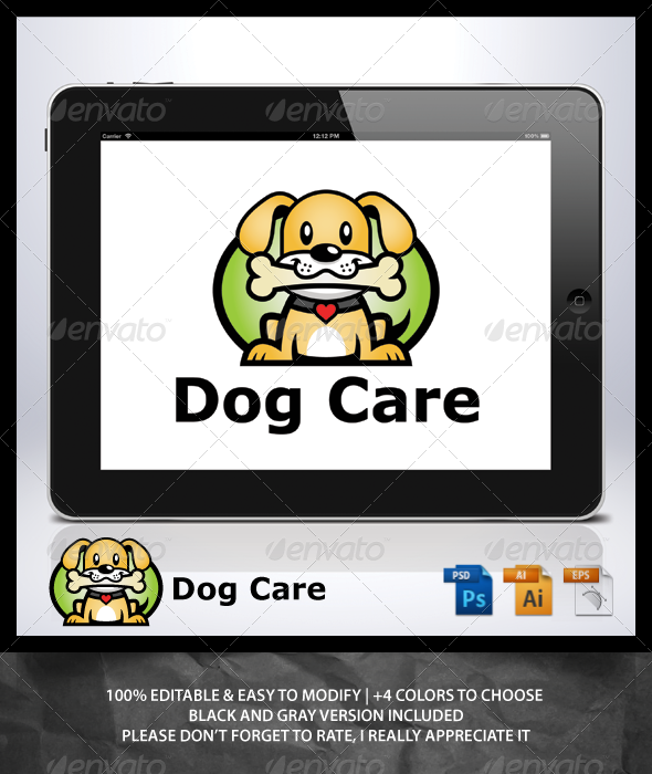 GraphicRiver Dog Care Logo 6960218