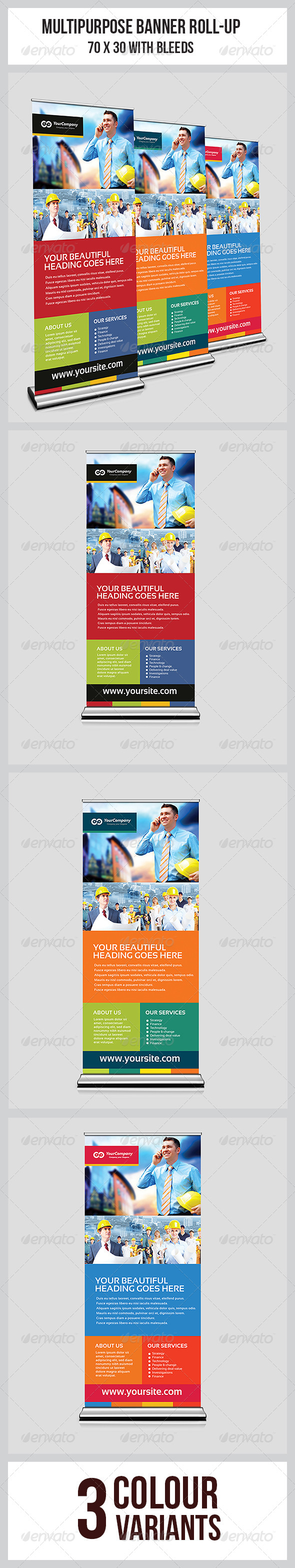 GraphicRiver Multipurpose Business Roll-Up 6961250