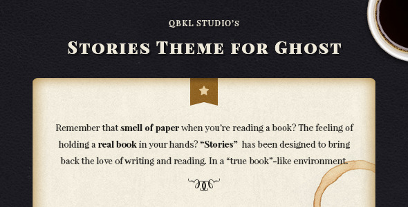 Stories - Ghost Blog Theme for Writers