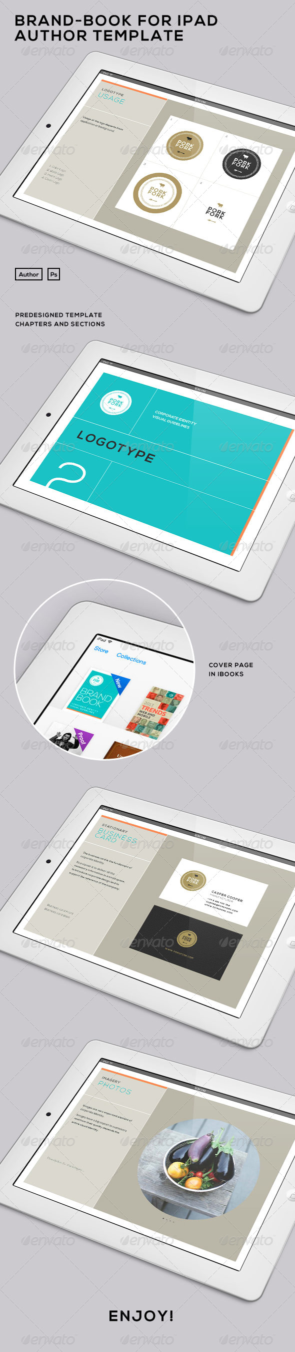 GraphicRiver Brand Book for iPad iBooks Author Template 6961519