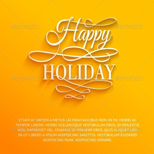 GraphicRiver Happy Holiday 6961589