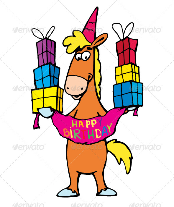 GraphicRiver Birthday Horse 6961672