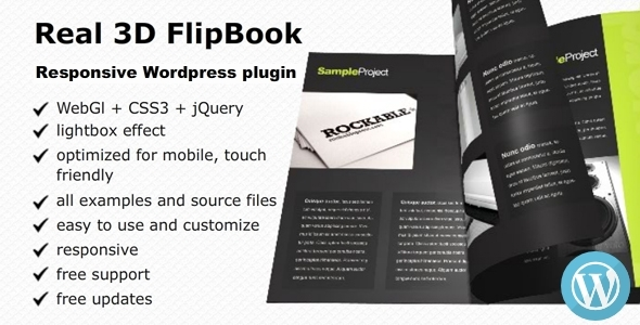 CodeCanyon Real 3D FlipBook Responsive WordPress Plugin 6942587