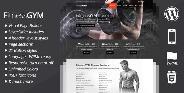 ThemeForest FitnessGYM WordPress Sport Theme 6961701
