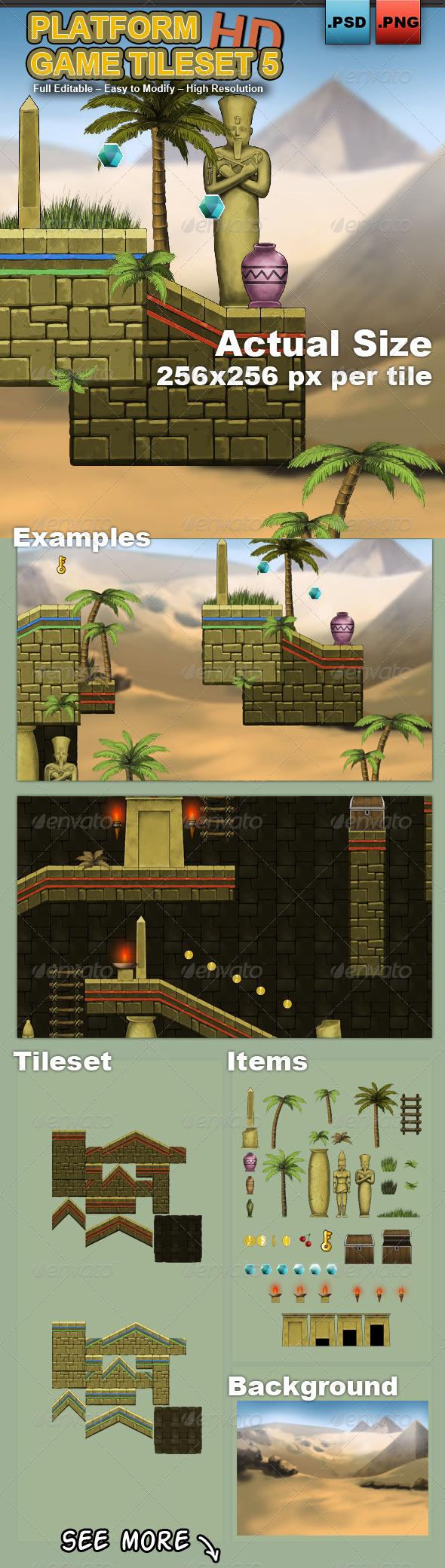GraphicRiver Platform Game Tileset 5 HD 6961711