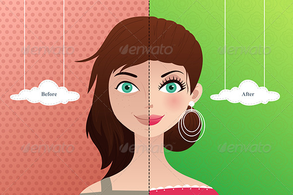 GraphicRiver Before and After Makeup 6961829