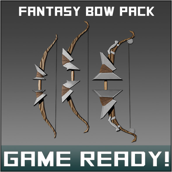 Fantasy Weapon Bow pack - 3DOcean Item for Sale