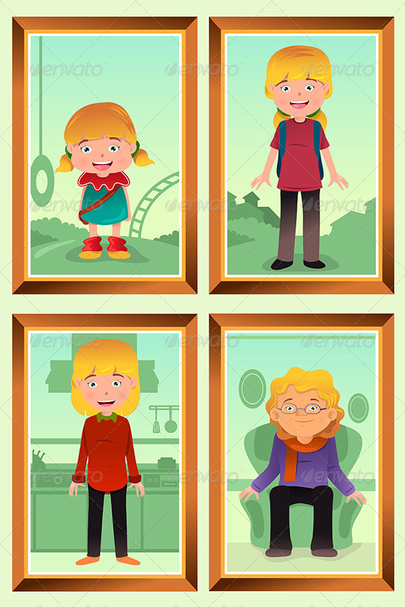 GraphicRiver Evolution or Aging Concept 6961960