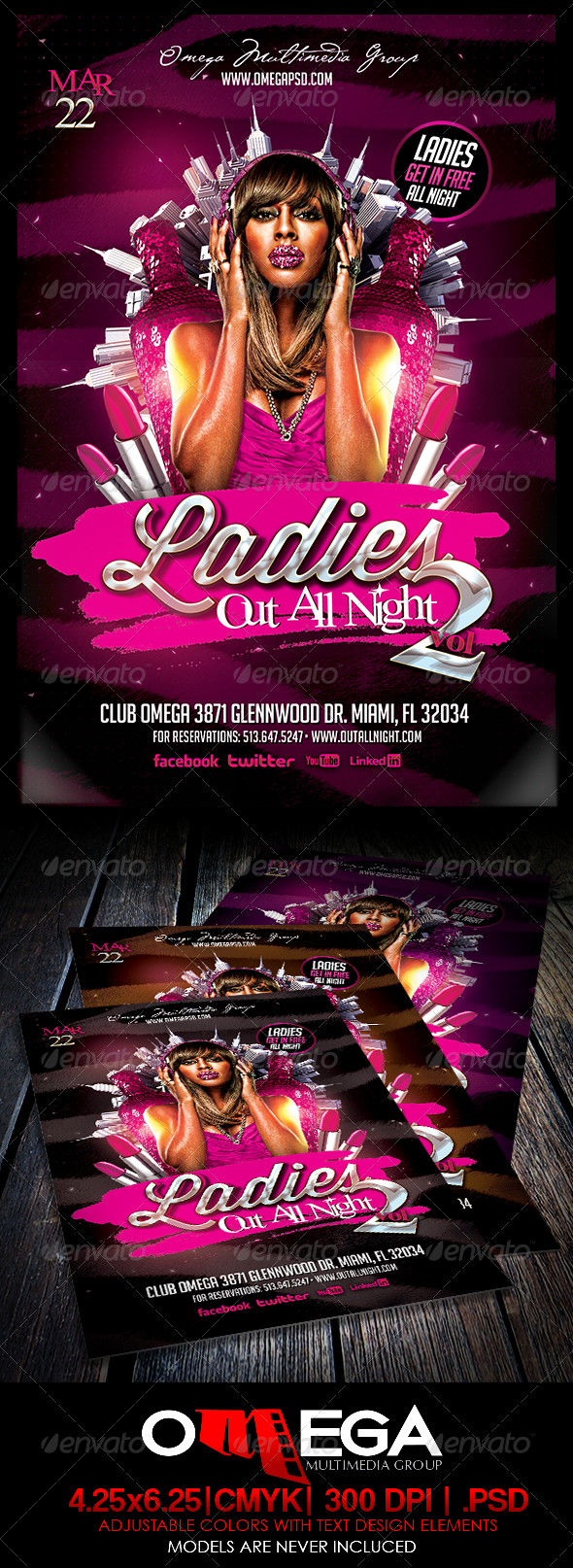 GraphicRiver Ladies Out All Night V2 6962053