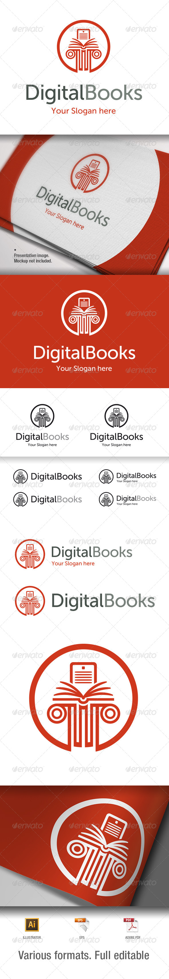 GraphicRiver Digital Books Logo Template V1 6953700