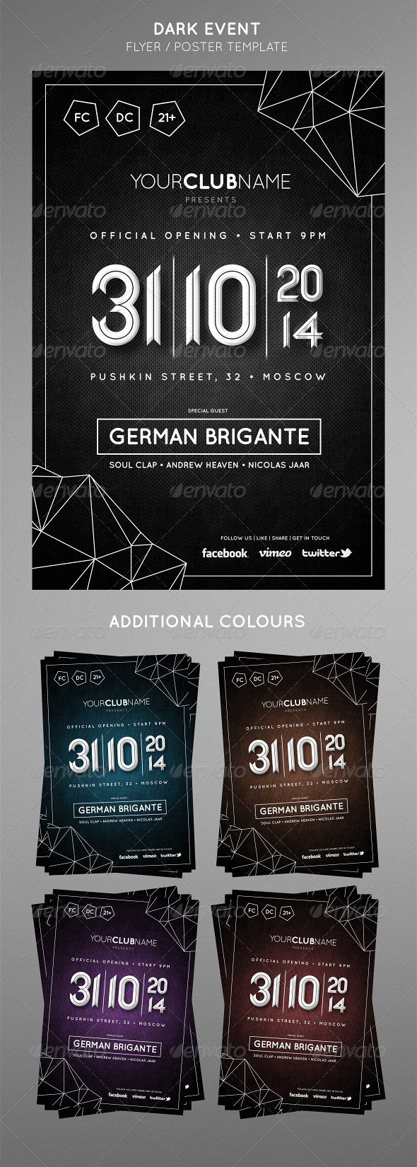 GraphicRiver DARK EVENT Flyer 6962388