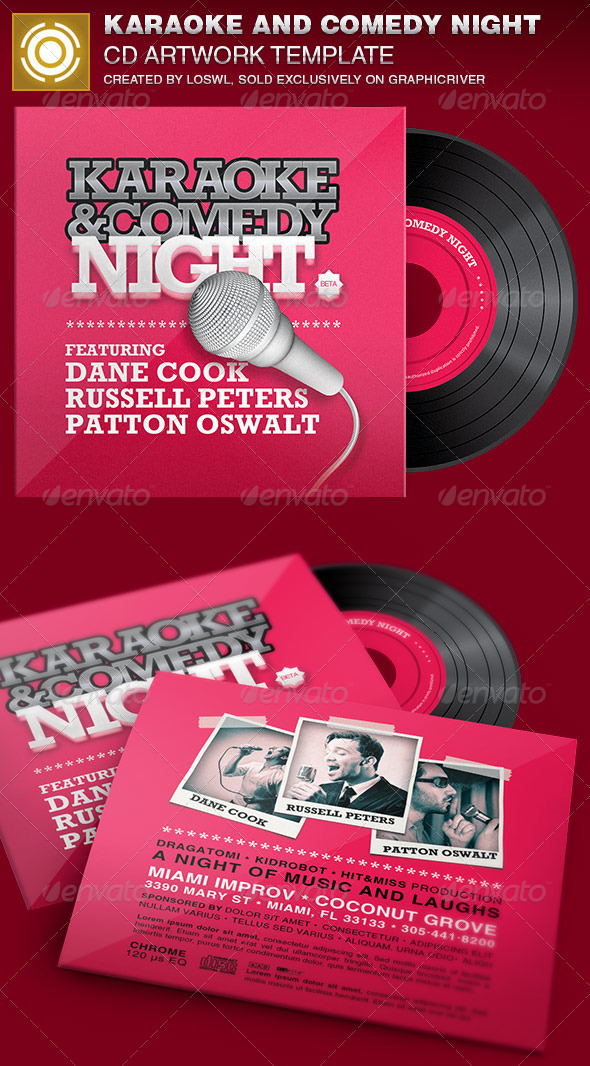 GraphicRiver Karaoke and Comedy Night CD Artwork Template 6962410