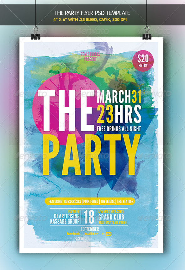 GraphicRiver The Party Flyer Template 6962431