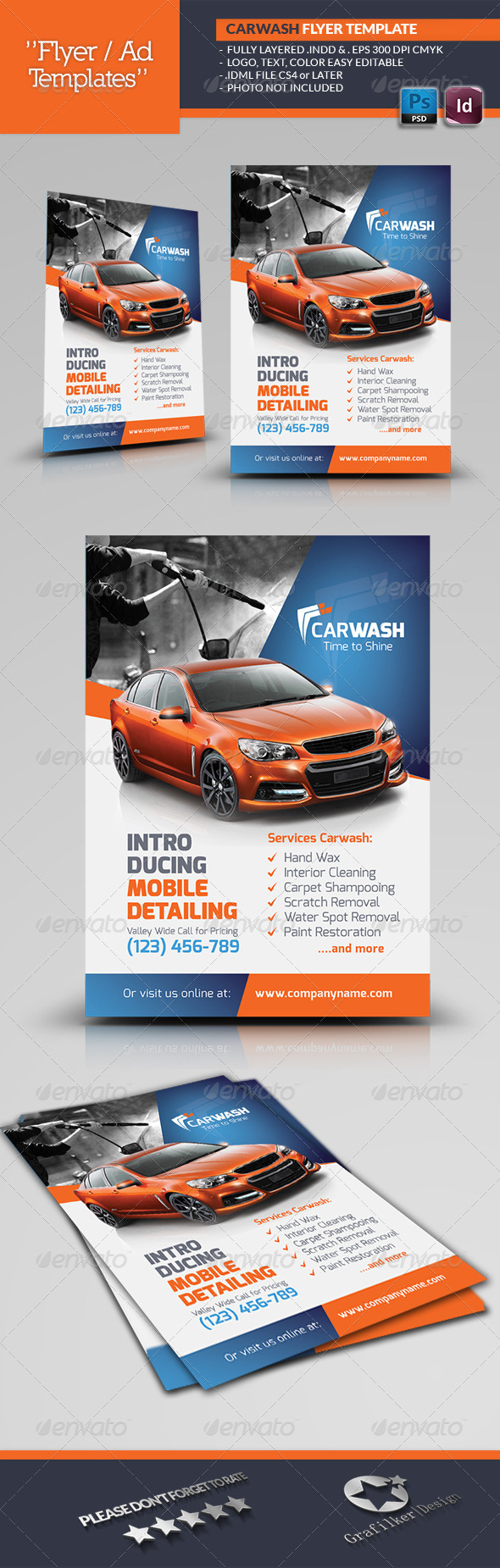 GraphicRiver Car Wash Flyer Templates 6962539