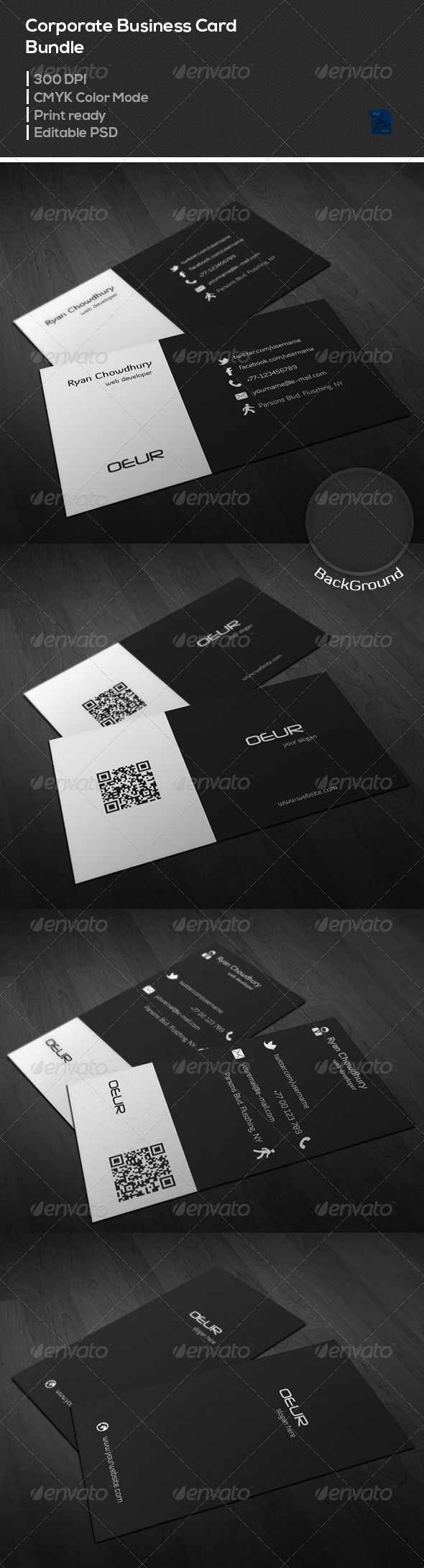 GraphicRiver Corporate Business Card Bundle 03 6962669