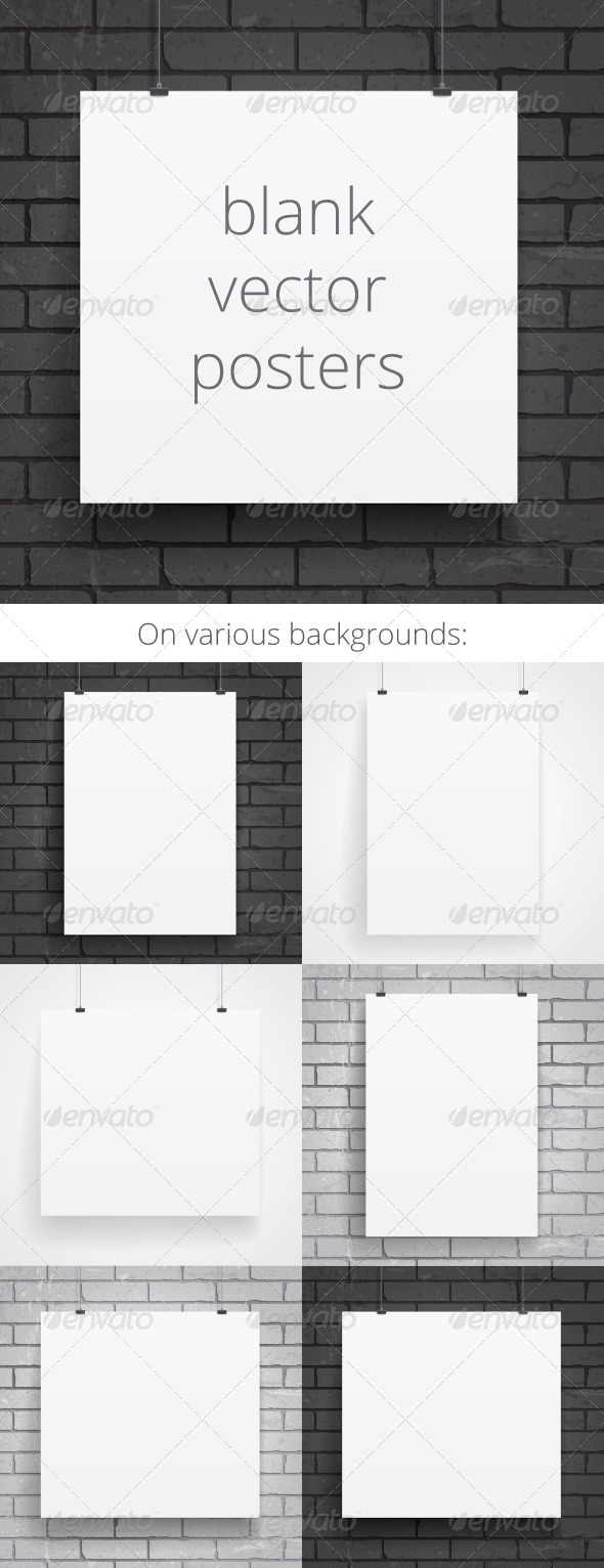 GraphicRiver Blank Paper Posters 6962673