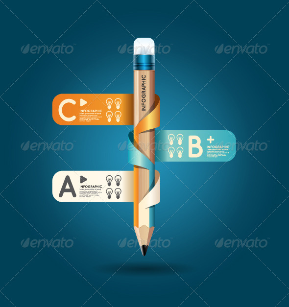 GraphicRiver Creative Template Pencil Ribbon Banner 6962721