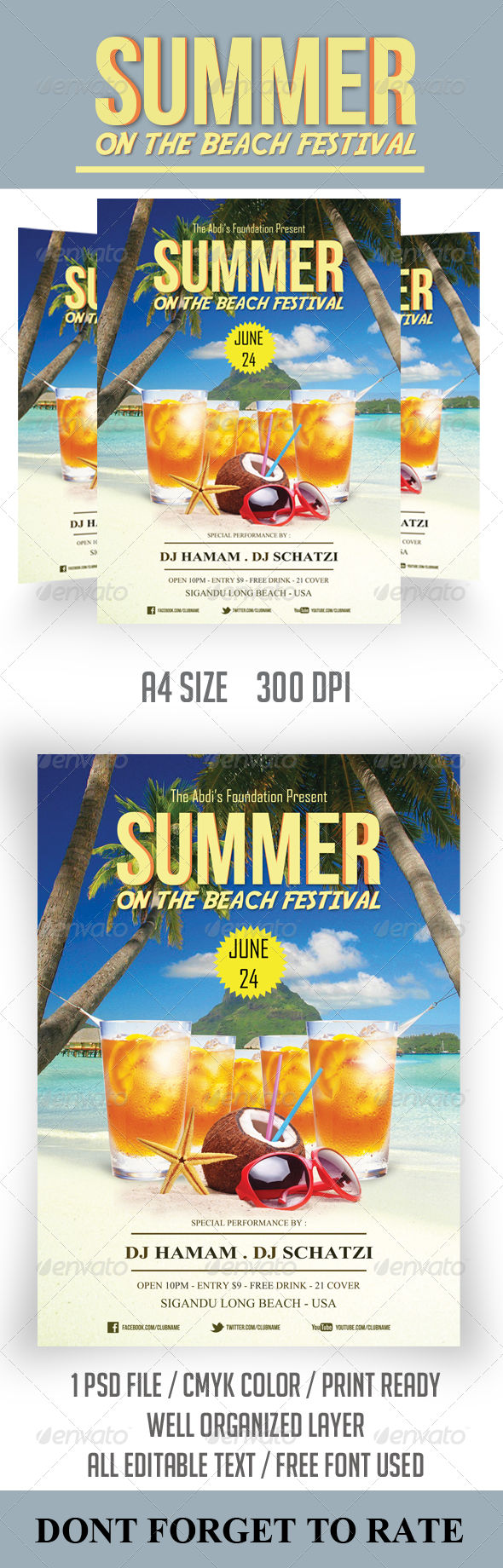 GraphicRiver Summer Festival Flyer Template 6962741