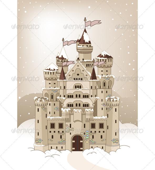 GraphicRiver Magic Winter Castle 6962742