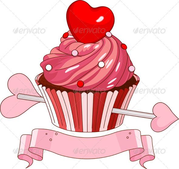 GraphicRiver Valentine Cupcake 6962925