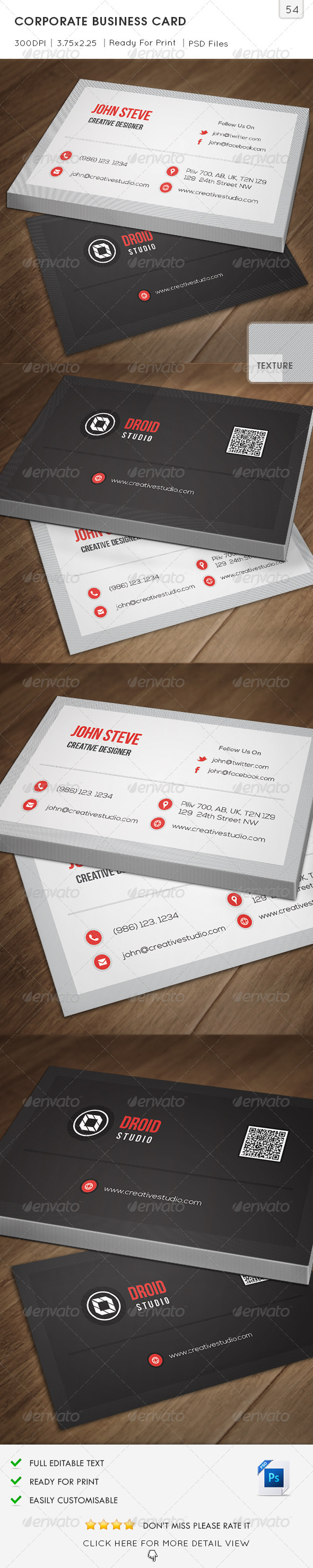 GraphicRiver Corporate Business Card v54 6963319