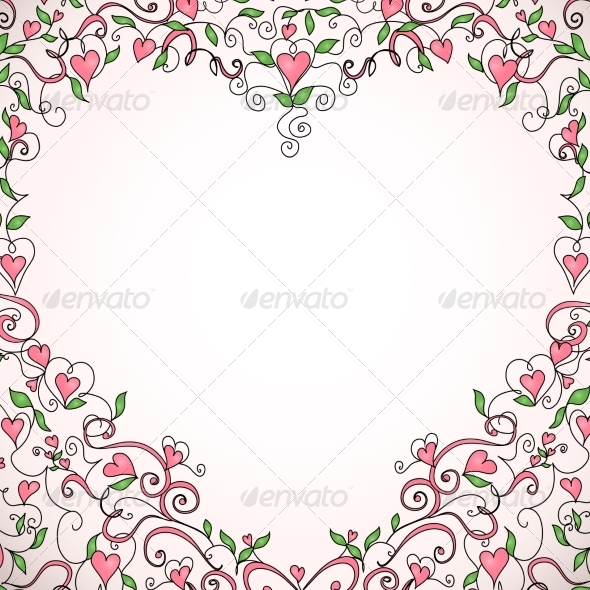 GraphicRiver Heart-Shaped Frame 6963639
