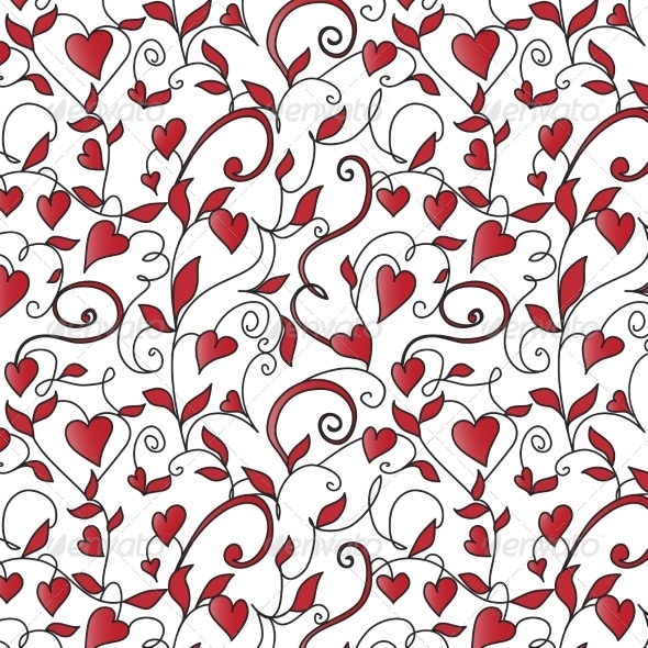 GraphicRiver Background with Hearts Ornament 6963644