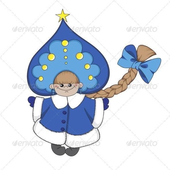 GraphicRiver Cartoon Snow Maiden 6963836