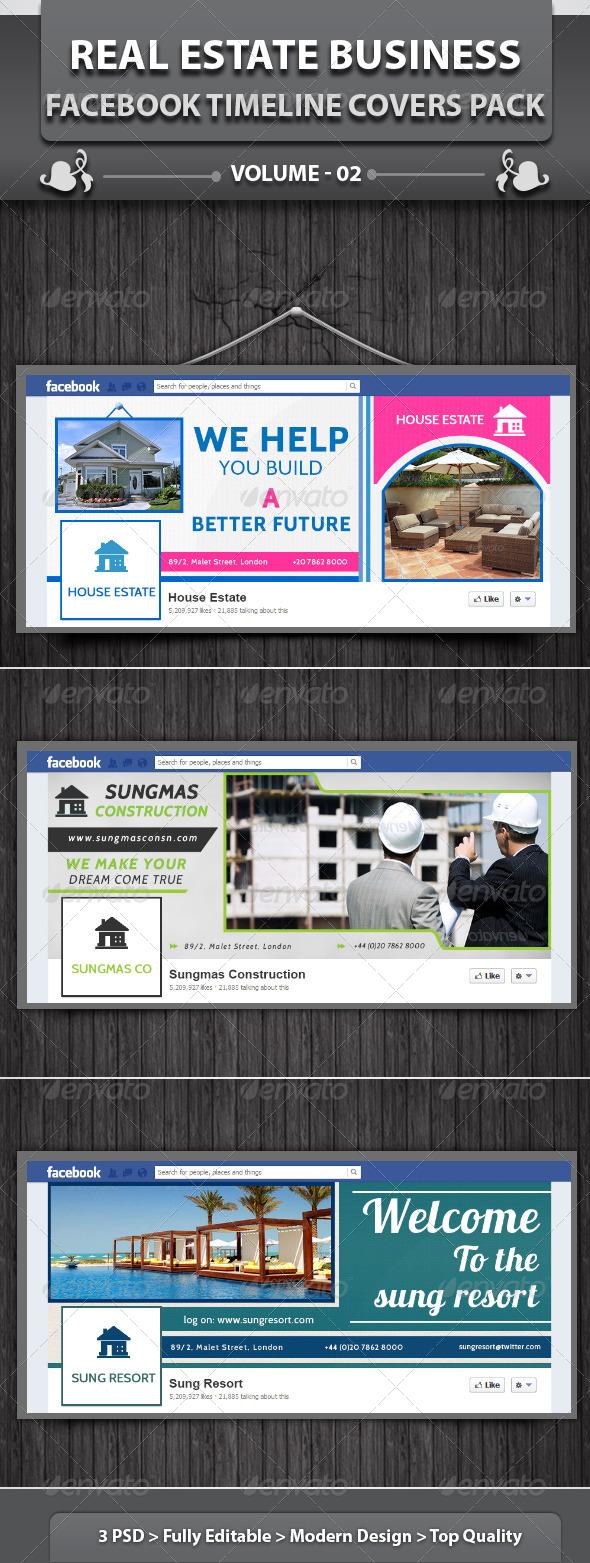 Real Estate Business FB Timeline | Volume 1 - Facebook Timeline Covers Social Media