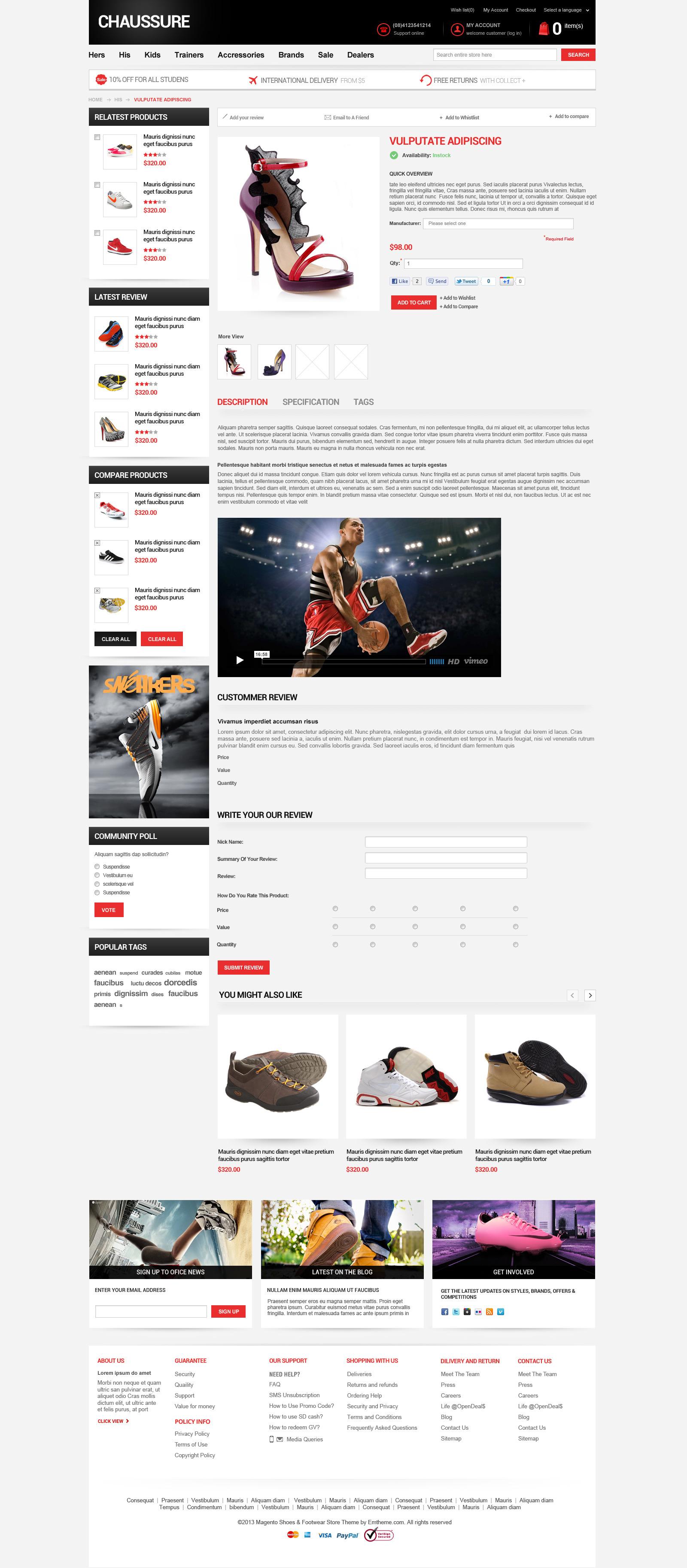 Responsive Magento Theme - EM Chaussure