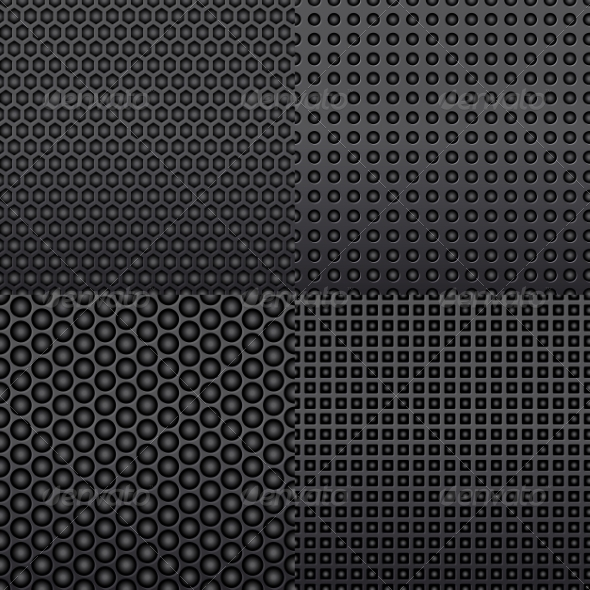 GraphicRiver Four Repeat Seamless Carbon Patterns 6964126