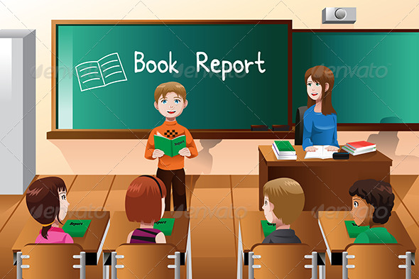 GraphicRiver Student Doing a Book Report 6933280