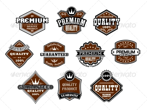GraphicRiver Collection of different Premium and Quality Labels 6964155