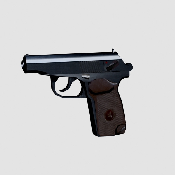Makarov Pistol - Low Poly - 3DOcean Item for Sale