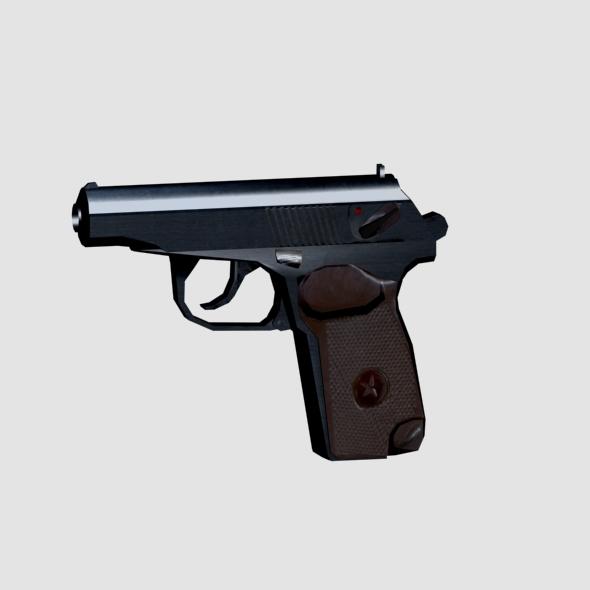 3DOcean Makarov Pistol Low Poly 6964171
