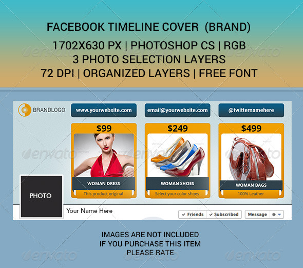 GraphicRiver Facebook Timeline Cover BRAND 6964172