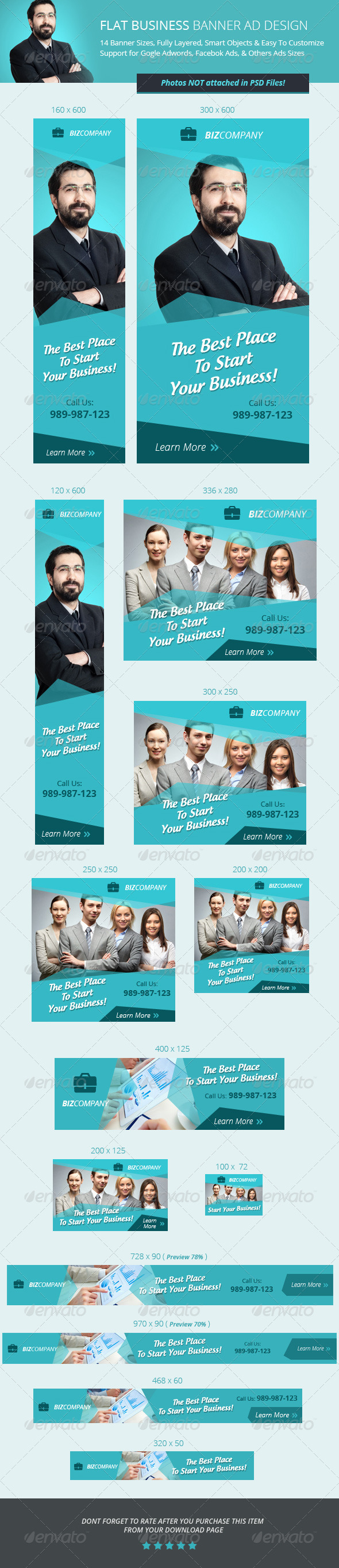 GraphicRiver Flat Business Banner ad Design 6964182