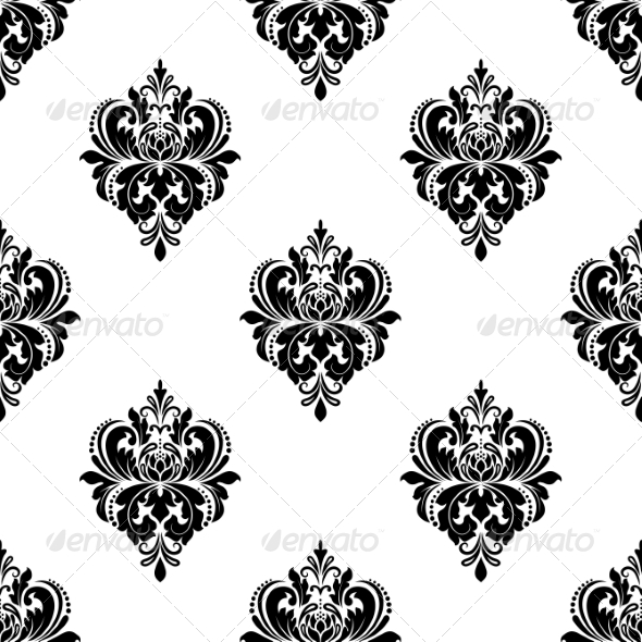 GraphicRiver Floral Seamless Arabesque Pattern with Damask 6964192