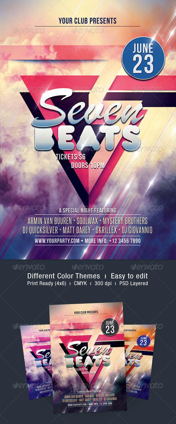 Seven Beats Flyer - Clubs & Parties Events