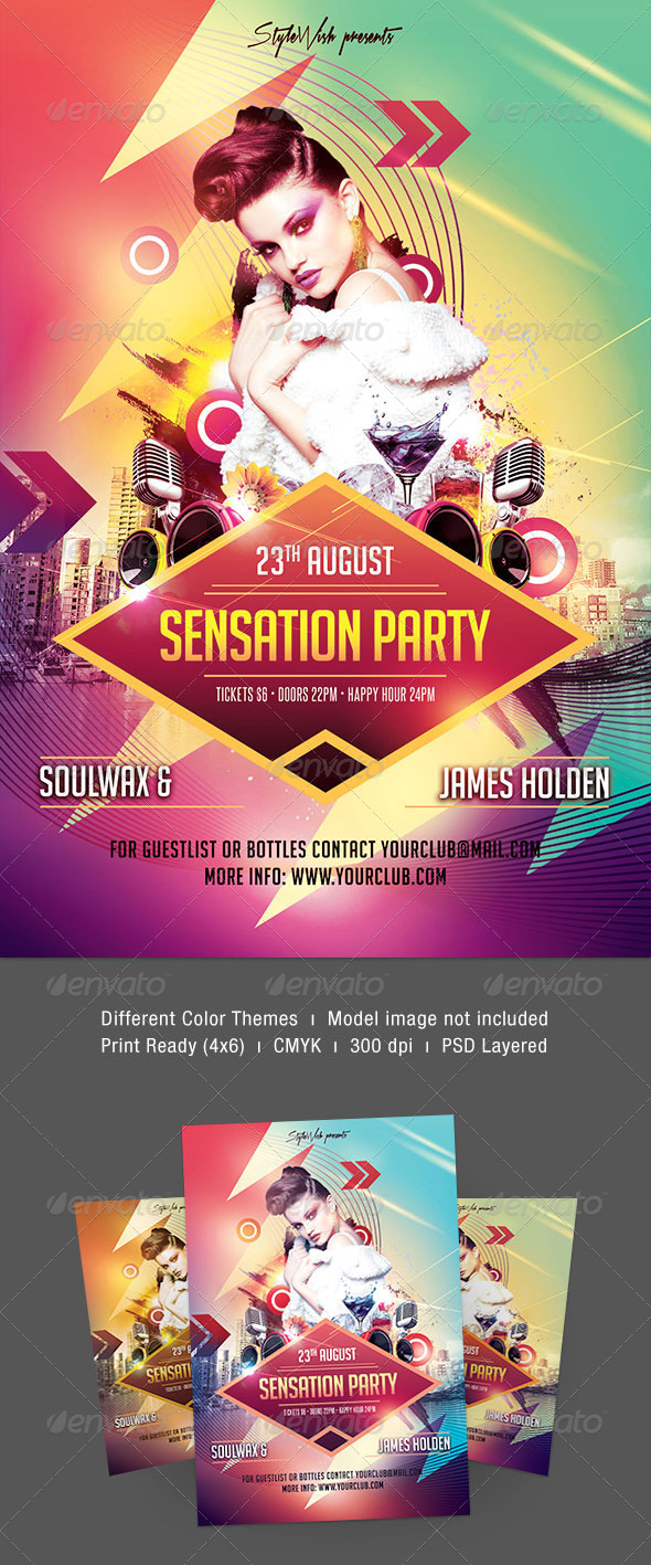 Sensation Party Flyer - Clubs & Parties Events